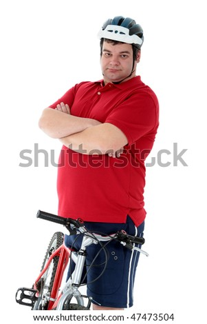 cyclist think holding a bike