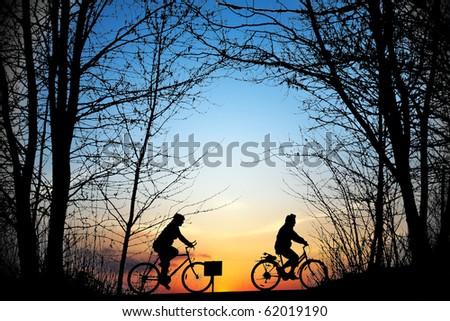 Cyclists - stock photo