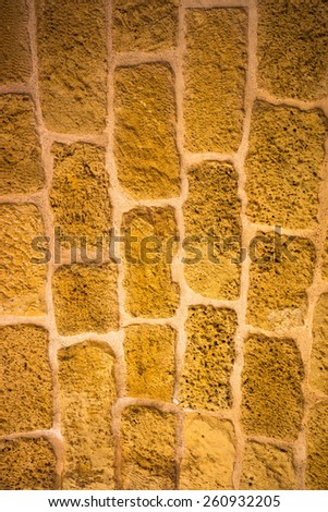 Cyclopean wall  - stock photo