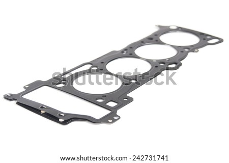 Cylinder head gasket car engine isolated - stock photo