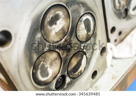 Cylinder head of an automobile engine