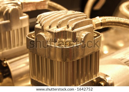cylinder of compressor - stock photo