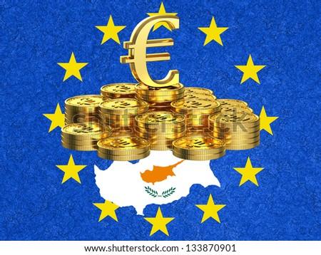 Cyprus crisis - stock photo