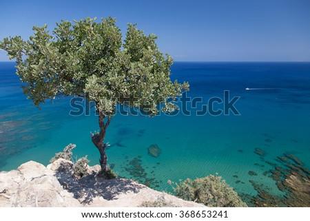 Cyprus Island sea coast - stock photo