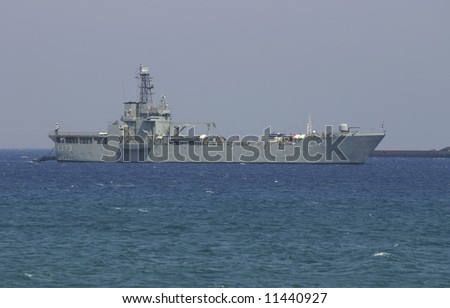 Cyprus, Larnaca. The military ship of Cyprus republic.