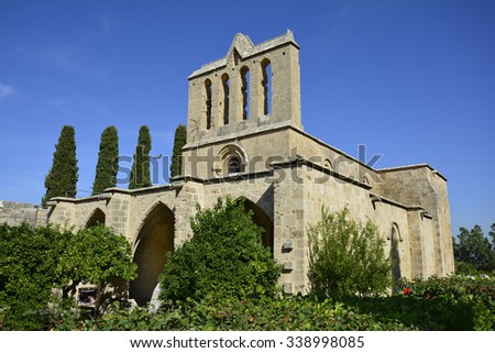 Cyprus, medieval gothic abbey Bellapis
