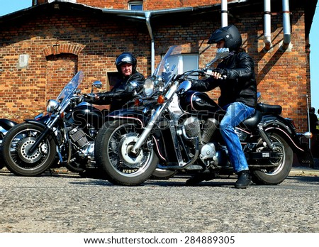CZARNKOW, POLAND - September 13, 2014: Clasic motorbikes during the annual rally.