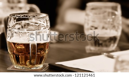 Czech beer - stock photo