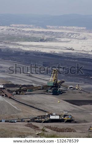 Czech coal mining - stock photo