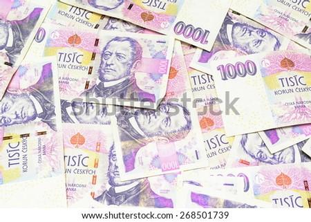czech crown ceska koruna national money in czech republic - stock photo