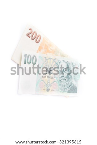 Czech currency money - stock photo