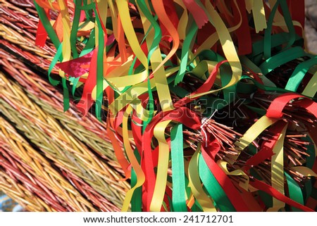 czech easter rods background - stock photo