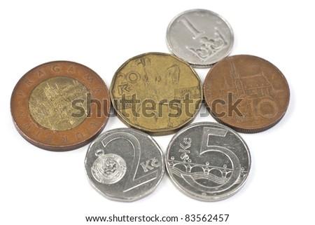 Czech korunas - stock photo