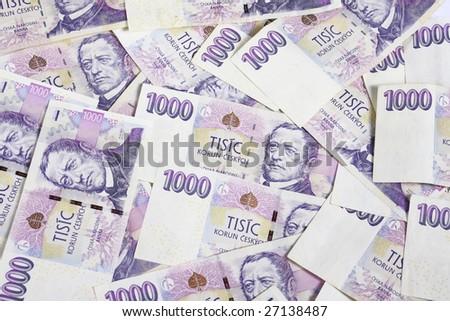 Czech money for white background - stock photo
