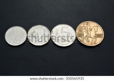 Czech  money -  kronas - stock photo