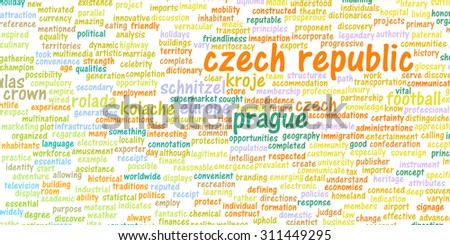 Czech Republic as a Country Abstract Art Concept