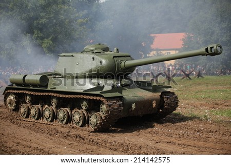 CZECH REPUBLIC - AUGUST 30 : Tank Day in Military Technical Museum LeAÂ¡any  on August 30, 2014 Czech Republic