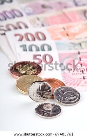 Czech Republic currency - stock photo