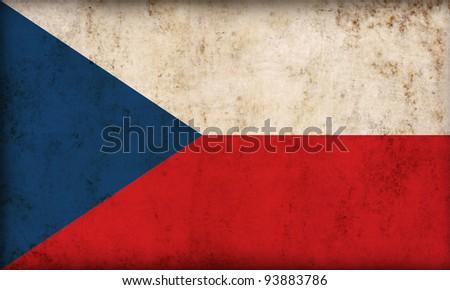 Czech Republic flag background - stock photo