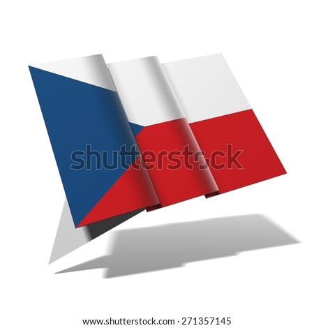 Czech Republic flag 3D banner - stock photo
