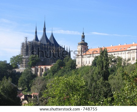 Czech Republic Kutna Hora Cathedral CHURCH OF ST.BARBARA