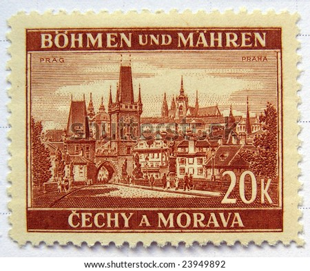 Czech Republic mail postage stamps - stock photo