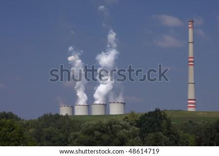 Czech Republic - power station Chvaletice - stock photo