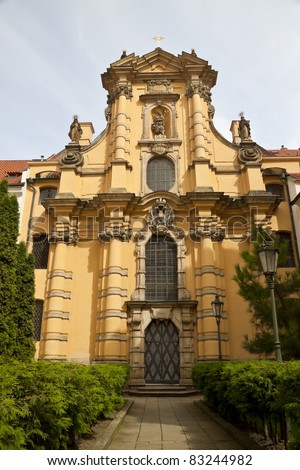 Czech Republic, Prague. Walking through the streets.Buildings and architecture of the city - stock photo