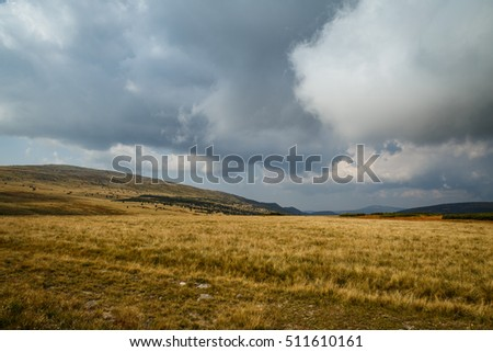 Czech Republic - September 10, 2016 -  The southern view on the Mt. Lisci hora (1555 m) in National Park Krkonose