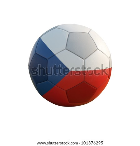czech republic soccer ball isolated on white