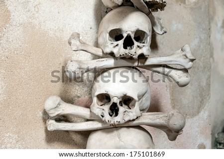 Czech Republic -  UNESCO City Kutna Hora - Church Sedlec - Ossuary - stock photo