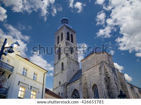 Czech Republic - UNESCO City Kutna Hora - Church St Jakuba (James, Jacob)  - stock photo