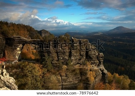 Czech  rock,Czech republic Czech Switzerland - stock photo