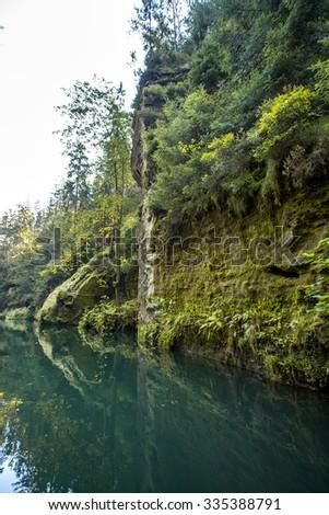 Czech Rock River - stock photo