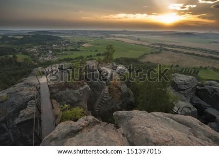 czech sunset - stock photo