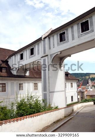 Czech town - Cesky Krumlov - stock photo