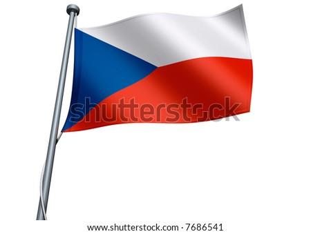 Czechia Flag - stock photo
