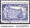 CZECHOSLOVAKIA - CIRCA 1957: A stamp printed in Czechoslovakia issued for the 250th anniversary of Polytechnic Engineering Schools shows Polytechnic Engineering Schools Building, Prague, circa 1957. - stock photo