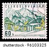 CZECHOSLOVAKIA - CIRCA 1964: A stamp printed in Czechoslovakia showing Zdiar in High Tatras, circa 1964 - stock photo