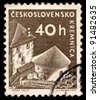 CZECHOSLOVAKIA - CIRCA 1960: A stamp printed in Czechoslovakia, shows a town in central Slovakia Kremnica, circa 1960 - stock photo