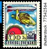 CZECHOSLOVAKIA - CIRCA 1978: A stamp printed in   Czechoslovakia shows airship Graf Zeppelin LZ-127,  circa 1978 - stock photo