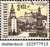 CZECHOSLOVAKIA - CIRCA 1965: A stamp printed in Czechoslovakia shows  Bratislava, the capital of Slovakia, circa 1965 - stock photo