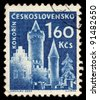 CZECHOSLOVAKIA - CIRCA 1960: A stamp printed in Czechoslovakia, shows Kokorin Castle, circa 1960 - stock photo