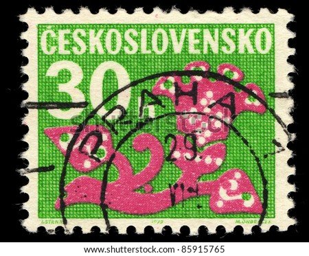 CZECHOSLOVAKIA - CIRCA 1972: A stamp printed in Czechoslovakia shows Stylized Plant, circa 1972