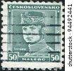 CZECHOSLOVAKIA - CIRCA 1935: A stamp printed in the Czechoslovakia, shown Milan Rastislav Stefanik, circa 1935 - stock photo