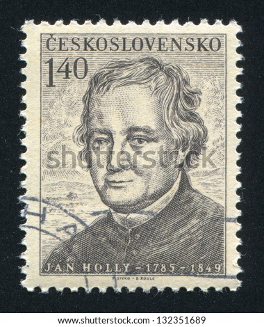 CZECHOSLOVAKIA - CIRCA 1955: stamp printed by Czechoslovakia, shows Jan Holly, circa 1955