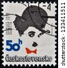 CZECHOSLOVAKIA - CIRCA 1989: Stamp printed in Czechoslovakia shows actor Charles Chaplin, circa 1989 - stock photo