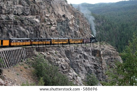 D&RGW Narrow guage - stock photo