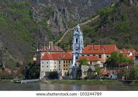 D�¼rnstein church / Wachau - Austria - stock photo