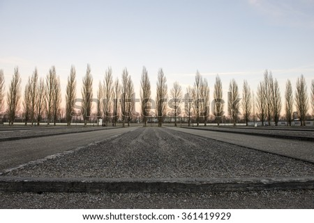 Dachau World War II Concentration in Germany Camp - stock photo
